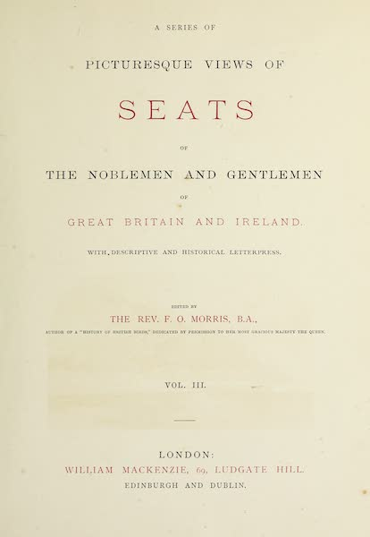 County Seats of Great Britain and Ireland Vol. 3 - Title Page (1880)