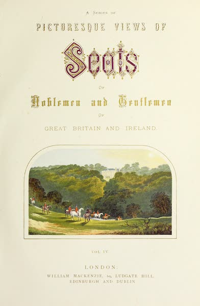 County Seats of Great Britain and Ireland Vol. 4 - Illustrated Title Page (1880)