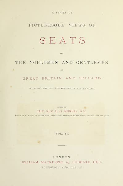 County Seats of Great Britain and Ireland Vol. 4 - Title Page (1880)