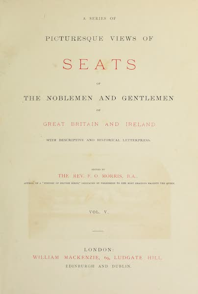 County Seats of Great Britain and Ireland Vol. 5 - Title Page (1880)