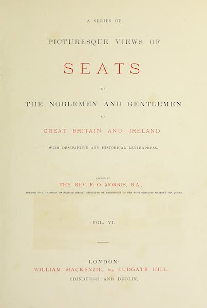 County Seats of Great Britain and Ireland Vol. 6 - Title Page (1880)