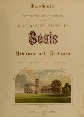 County Seats of Great Britain and Ireland Vol. 7 - Title Page (1880)