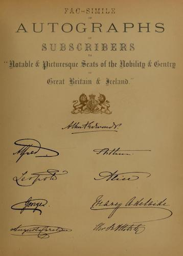 County Seats of Great Britain and Ireland Vol. 7 - Facsimile of Autographs of Subscribers (1880)