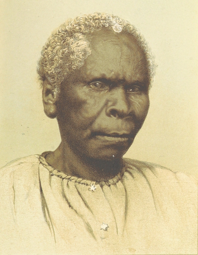 Cruise Round the World of the Flying Squadron - Tasmania, the Last of the Aboriginals Lady (1871)