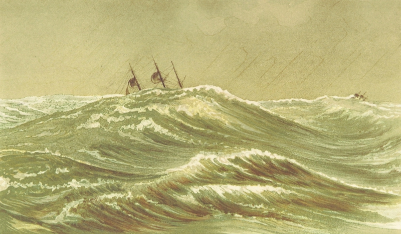 Cruise Round the World of the Flying Squadron - Rounding Cape Horn (1871)