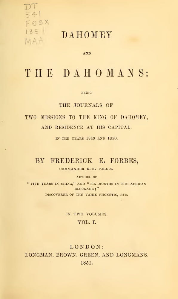 World Digital Library - Dahomey and the Dahomans