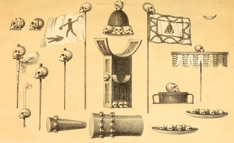 Dahomey and the Dahomans - Skull Ornaments and Banners of Dahomey (1851)
