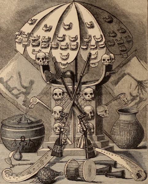 Dahomey As It Is - The Jaw, Umbrella, Gelele's Stool, Guns, Sticks, Swords etc. (1874)