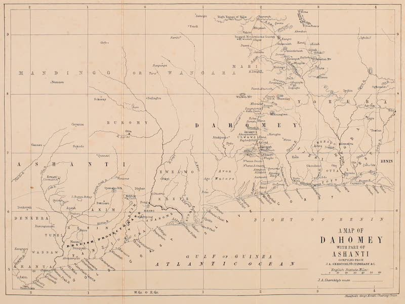 Dahomey As It Is - A Map of Dahomey with Part of Ashanti (1874)