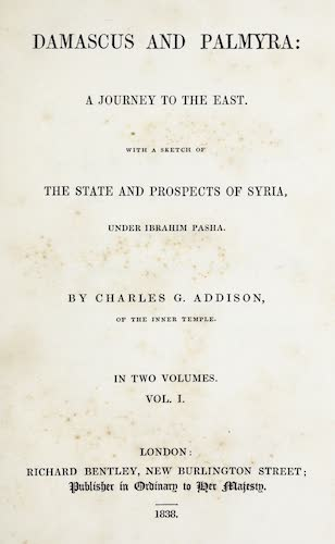 English - Damascus and Palmyra Vol. 1