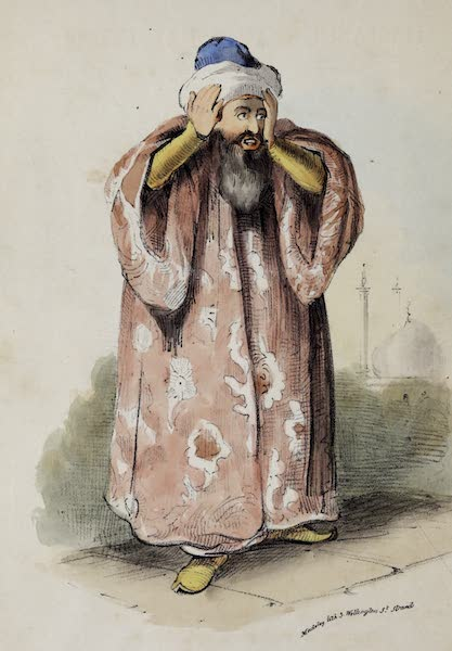 Damascus and Palmyra Vol. 1 - Muezzin Calling to Prayers (1838)