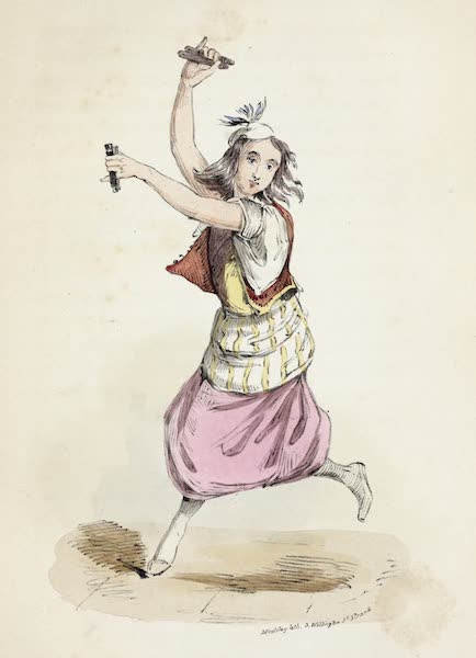 Damascus and Palmyra Vol. 1 - Dancer at the Cafes (1838)
