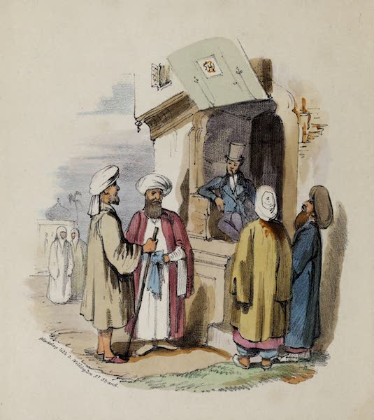 Damascus and Palmyra Vol. 2 - Scene in the Bazaar (1838)