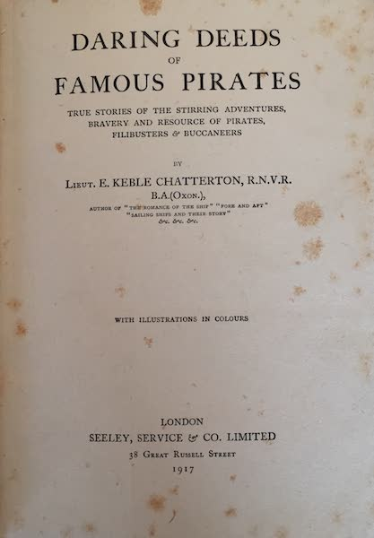 Daring Deeds of Famous Pirates - Title Page (1917)