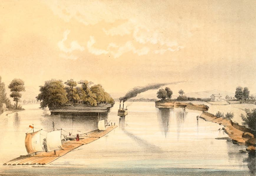 Das Illustrirte Mississippithal - The Mouth of the River St. Croix (1857)