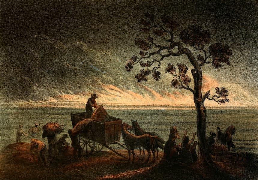 Das Illustrirte Mississippithal - Prairie on Fire (1857)