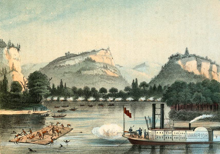 Das Illustrirte Mississippithal - Battle of Bad Axe (1857)