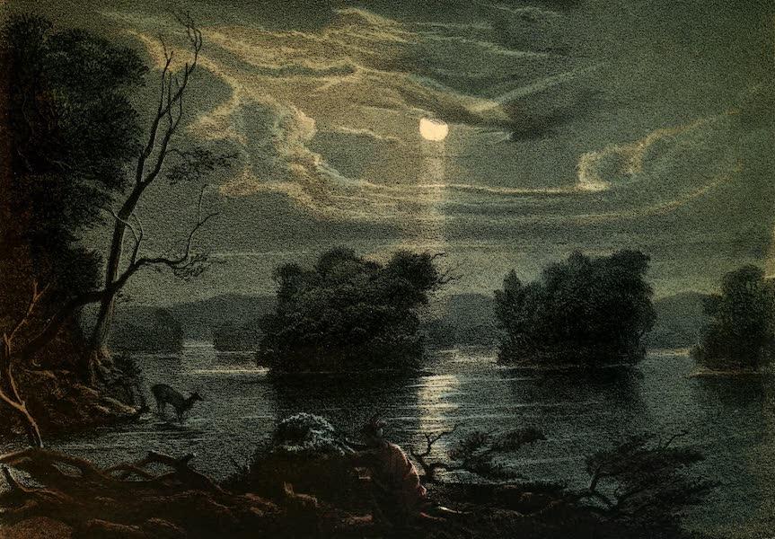 Das Illustrirte Mississippithal - Hunting the Deer by Moonlight (1857)
