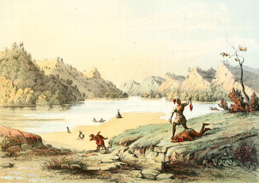 Das Illustrirte Mississippithal - Scalping Scene on the Mississippi (1857)