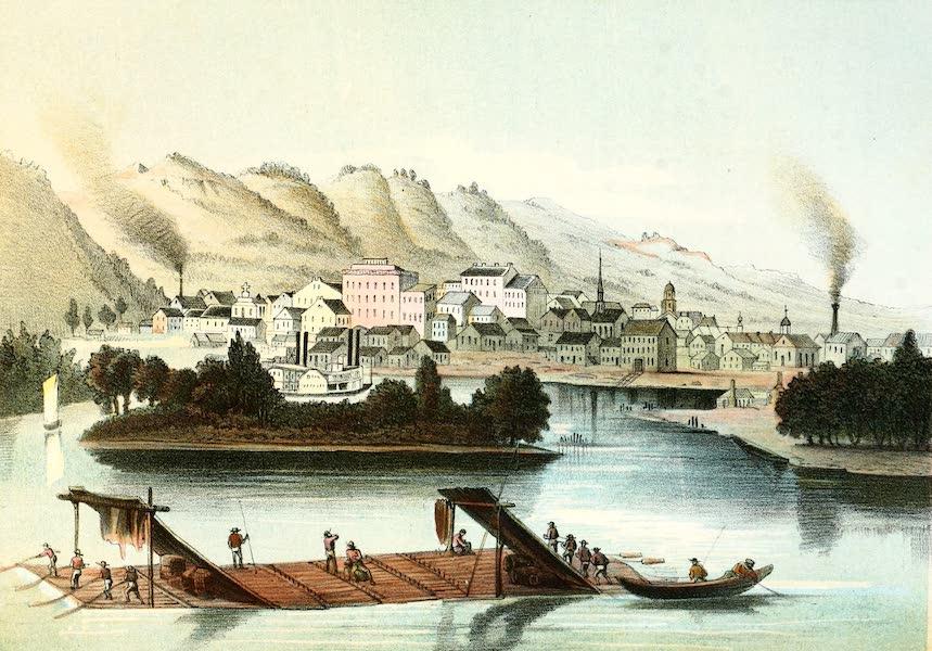 Das Illustrirte Mississippithal - Dubuque in Iowa (1857)