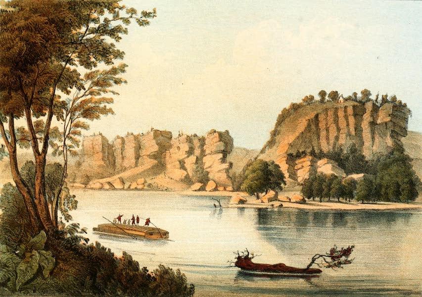 Das Illustrirte Mississippithal - Tete de Mort River (1857)