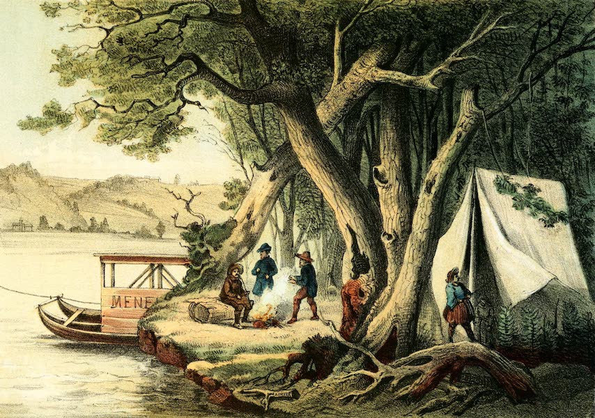 Das Illustrirte Mississippithal - Artist's Encampment (1857)