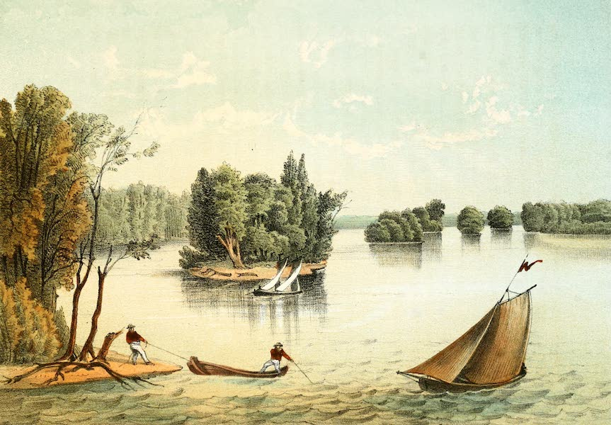 Das Illustrirte Mississippithal - View on the Mississippi near Quincy, Illinois (1857)