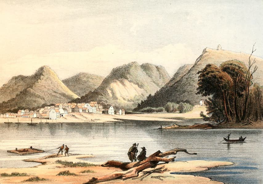 Das Illustrirte Mississippithal - The Town of Louisiana, Missouri (1857)