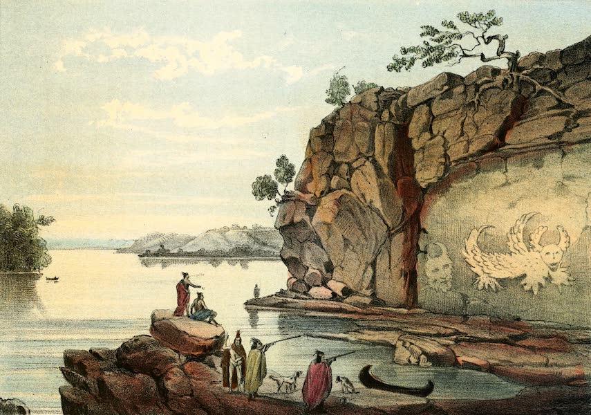Das Illustrirte Mississippithal - The Pissau Rock near Alton, Illinois (1857)