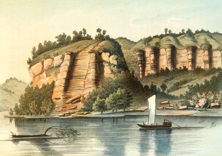 Das Illustrirte Mississippithal - Ballustrade Bluffs with the Grand Staircase (1857)