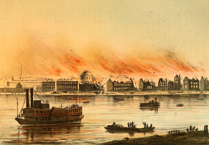 Das Illustrirte Mississippithal - The Great Fire in St. Louis (May 17th 1849) (1857)