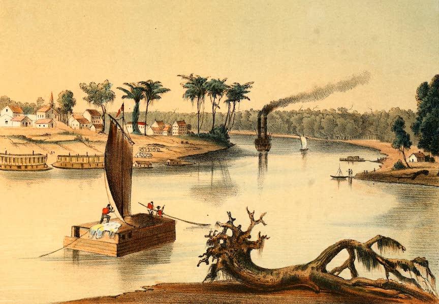 Das Illustrirte Mississippithal - Mouth of the Arkansas (1857)
