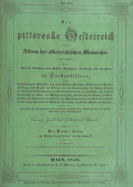 Das Pittoreske Oesterreich - Front Cover - Part 1 (1840)