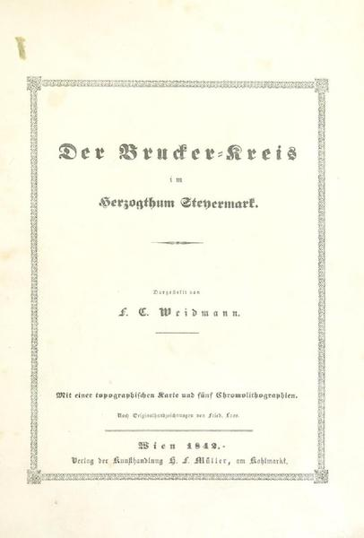 Das Pittoreske Oesterreich - Title Page - Part 1 (1840)