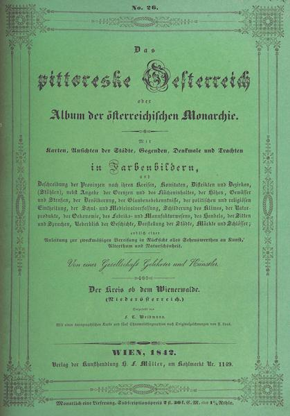 Das Pittoreske Oesterreich - Front Cover - Part 2 (1840)
