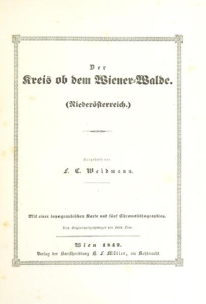 Das Pittoreske Oesterreich - Title Page - Part 2 (1840)