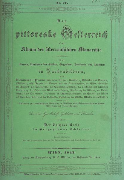 Das Pittoreske Oesterreich - Front Cover - Part 3 (1840)