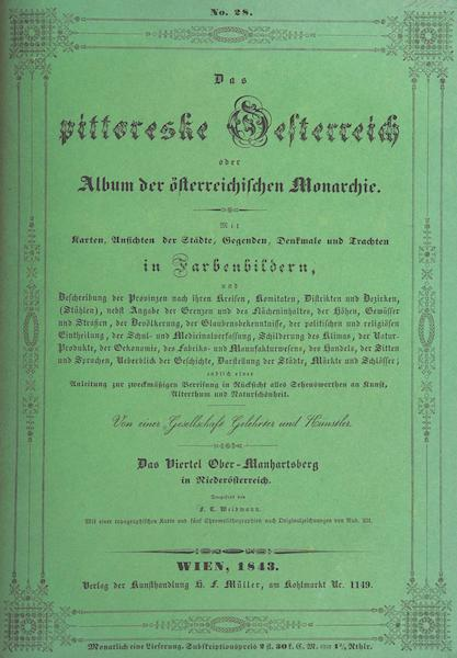 Das Pittoreske Oesterreich - Front Cover - Part 4 (1840)