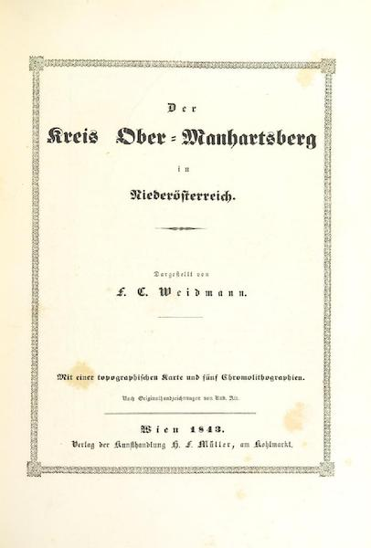 Das Pittoreske Oesterreich - Title Page - Part 4 (1840)