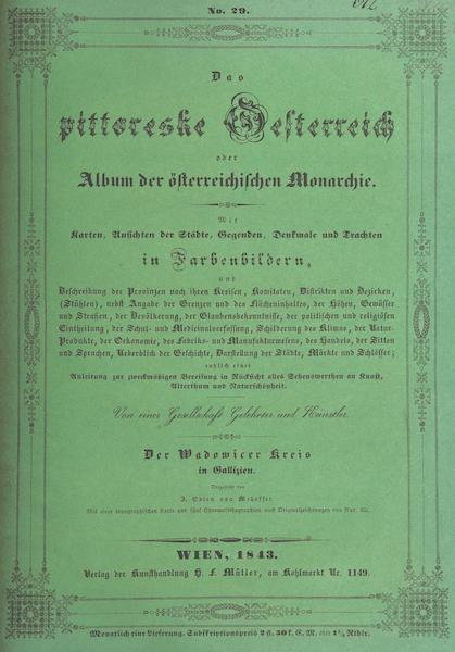 Das Pittoreske Oesterreich - Front Cover - Part 5 (1840)