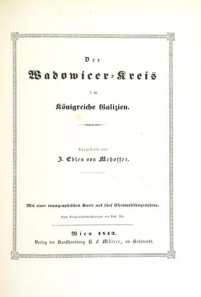 Das Pittoreske Oesterreich - Title Page - Part 5 (1840)