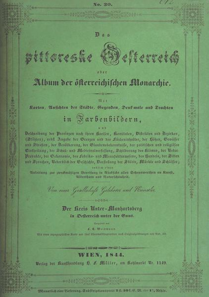 Das Pittoreske Oesterreich - Front Cover - Part 6 (1840)