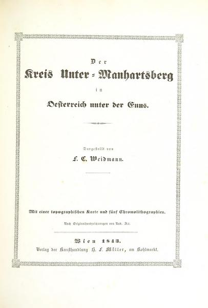 Das Pittoreske Oesterreich - Title Page - Part 6 (1840)