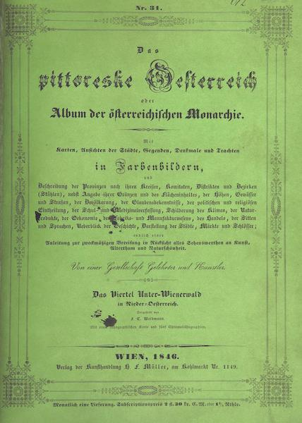 Das Pittoreske Oesterreich - Front Cover - Part 7 (1840)