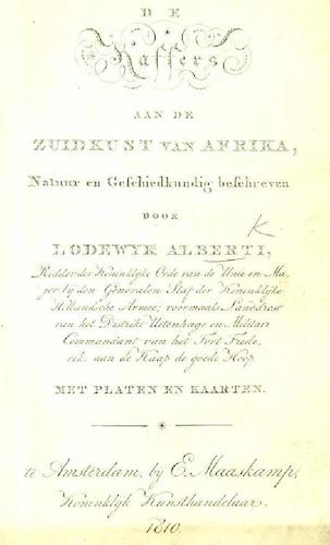 Aquatint & Lithography - De Kaffers aan de Zuidkust van Afrika
