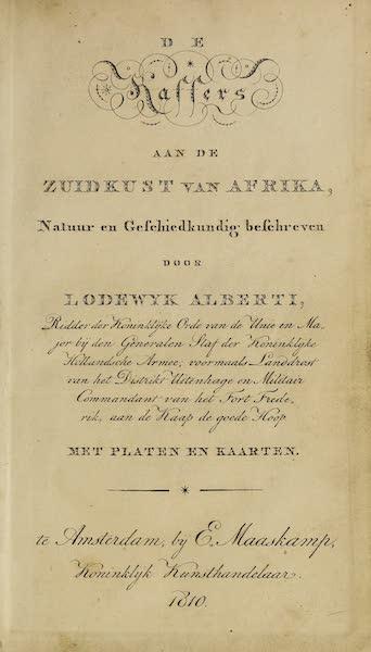 De Kaffers aan de Zuidkust van Afrika - Title Page (1810)