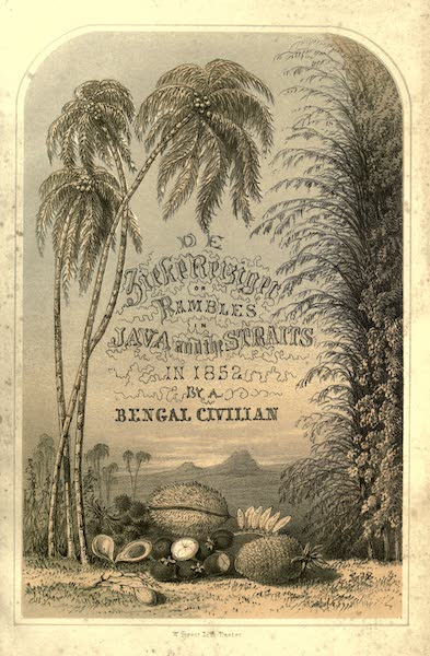 De Zieke Reiziger, or, Rambles in Java and the Straits - Illustrated Title Page (1853)