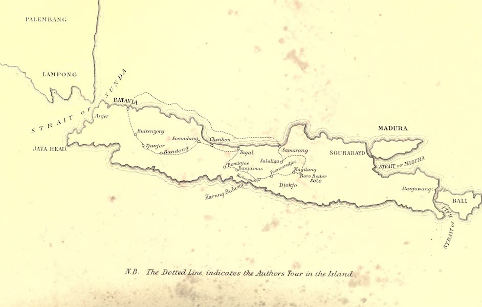 De Zieke Reiziger, or, Rambles in Java and the Straits - Map of the Island of Java (1853)