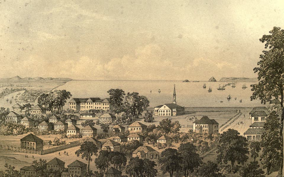 De Zieke Reiziger, or, Rambles in Java and the Straits - Singapore, from the East side of Government Hill (1853)