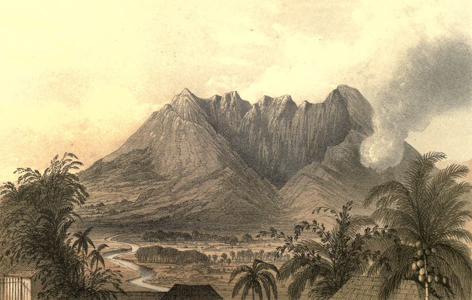 De Zieke Reiziger, or, Rambles in Java and the Straits - The Salok Mountain, from the Buitenzorg Hotel (1853)